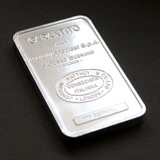 Pure Silver Ingot, weight 100 grams