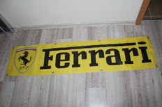 Large Ferrari banner 2010 new old stock from Italy for your garage, shop or office - 160 x 37 cm