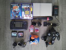 Lot of several consoles, games & accessories - Sega Game Gear, PS2, Kirby, Jakks Pacific, etc