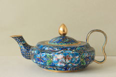 Cloisonné teapot – China – end 20th century
