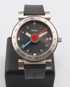 Xemex - Men's wristwatch - Hours, minutes, date and compass - Modern era
