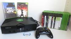 XBOX Classic with controller and 19 games plus extra