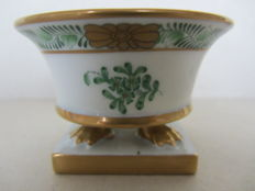 Herend porcelain - Green Chinese bouquet footed planter