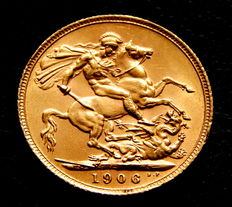 Great Britain – Sovereign 1906 – Eduard VII – Gold