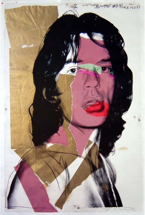 Andy Warhol (after) - Mick Jagger - Andy Warhol