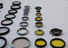 Lot of several filters and converter lenses