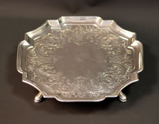 Antique Solid Sterling Silver Tazza Dish, London 1729, John Eckford II