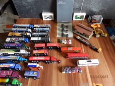 Wiking/Schuco/Herpa/Grell/e.a. H0 - Lot of 45 items to arrange the layout