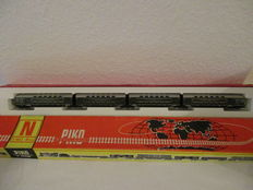 Piko N - 5/4136-010 - 4-part doubledecker wagons of the DR