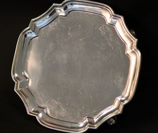 Solid Sterling Silver Salver, London 1935, Goldsmiths & Silversmiths Compant