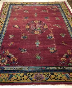 Chinese antique rug 342 x 265 cm