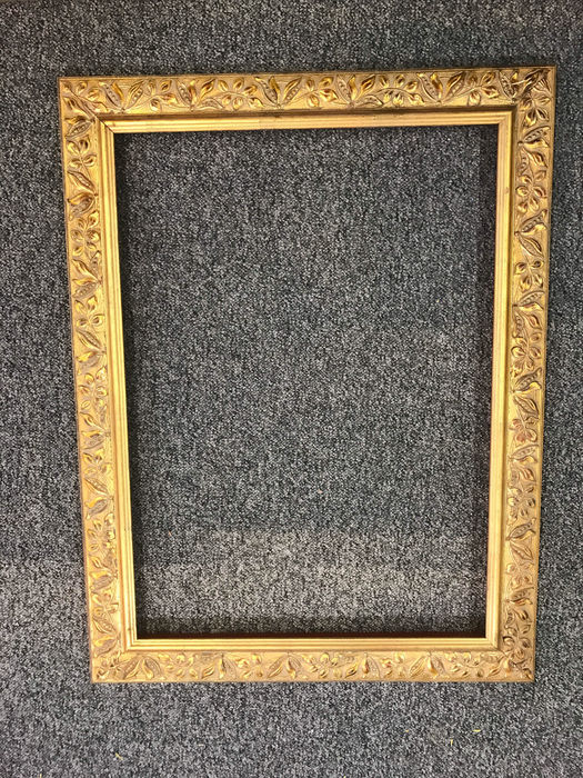A set of 3 gold gilded Frames with Floral Motives - Catawiki