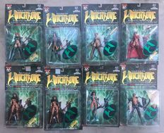 8 Witchblade Action Figures - Sealed - 8x mint on card, including 2 x signed - (1998)