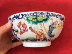 Famille rose bowl decorated with mandarins - China - 18th century