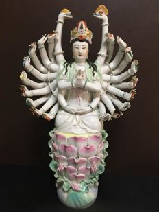 A porcelain figurine representing Guanyin - China - late 20th century