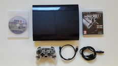 PS3 Console Super Slim 500gb with 2 Games and a Afterglow Controller