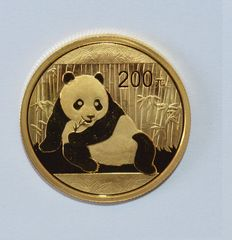 "China – 200 Yuan 2015 ""Panda"" – ½ oz of gold."