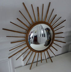 Beautiful gilded curved mirror 1950/1960