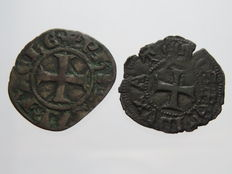 Principality of Achaea, Crusaders - 1301-1306 - Tornese - Philip of Savoy - (2 coins) – Mix
