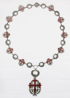 Portugal - Large-Collar, Military Order of Sant'Iago of the Sword, Enameled Silver, 20th century