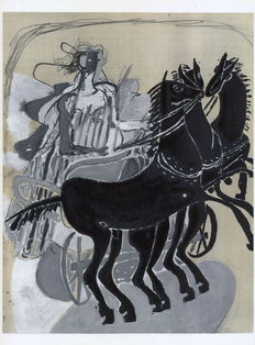 Georges Braque (after) - Cheval tirant un char