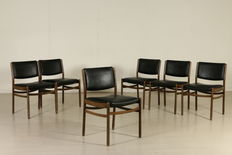 Unknown designer – Set of six chairs.