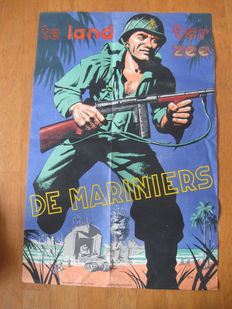 2 beautiful Posters Marines KNIL 1945
