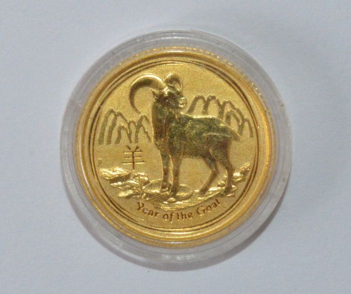 Canada – 15 dollars 2015 'Year of the Goat' 1/10 oz – gold