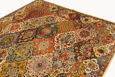 Antique Persian carpet Tabriz - made in Iran around 1936, 3.55 x 2.45 m, genuine handwoven Oriental carpet, signed, collector's item
