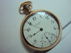 Waltham USA A.W.W. Co Pocket Watch – Gold Plated – circa 1914