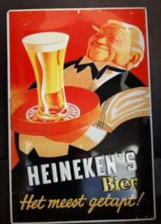Atmospheric metal Heineken advertising/cafe Board