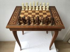 Reuge - Beautiful chess table with music box