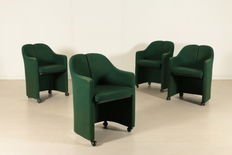 Unknown designer – Set of four armchairs.