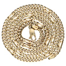 14 kt yellow gold curb link necklace – 58 cm