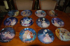 Complete series of porcelain plates Franklin Mint - Story of Cinderella