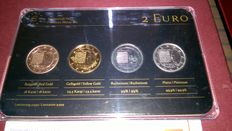 Luxembourg – 2 Euro 'National Anthem' 2013 (4 different plated coins) – Precious Metal Set