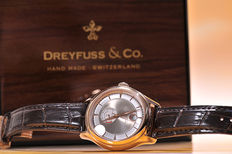Dreyfuss & Co Herenhorloge – Reserve De Marche – rose gold-plated case - never worn - new condition - 681 - 2017