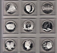 "The Netherlands - Small collection of nine different coins from the collection ""Oranje - Nassau / Willem Alexander en Maxima"""