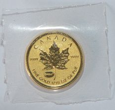 Canada - 5 Dollars 2015 'Maple Leaf' - 1/10 oz goud