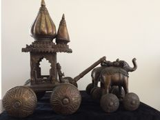 Large bronze folk Temple toy (height 49 cm) - India - approx. 1900-1930