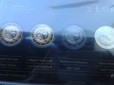 Latvia - 2 Euro 'Milda' 2014 (4 different plated coins) - Precious Metal Set