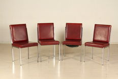 Unknown designer – Set of four chairs.