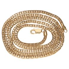 Yellow gold fantasy link necklace in 14 kt - 49 cm