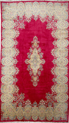 KERMAN -Handknotted/Persian/ORIENTAL/ -Kerman Oversize -Carpet 530 x 300 IRAN Around 1980