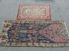 Lot of two rugs from the early 20th century.