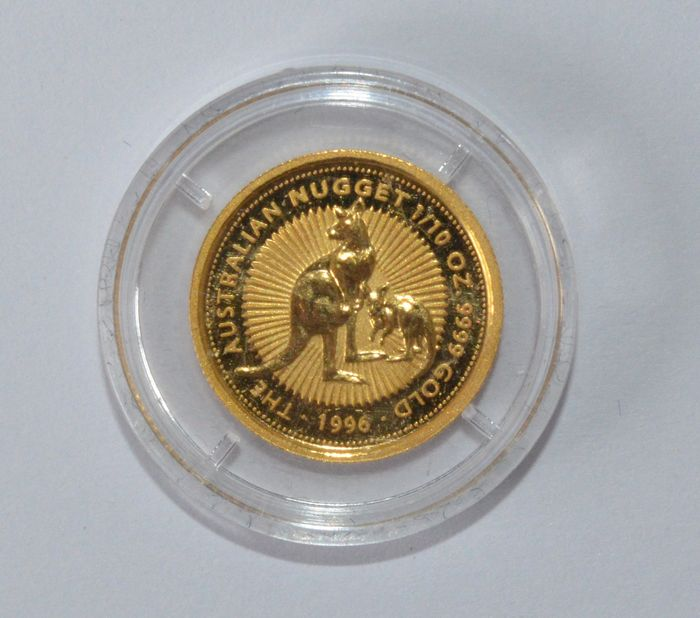 Australia – 15 Dollars 1996 'The Australian Nugget'- 1/10 oz gold