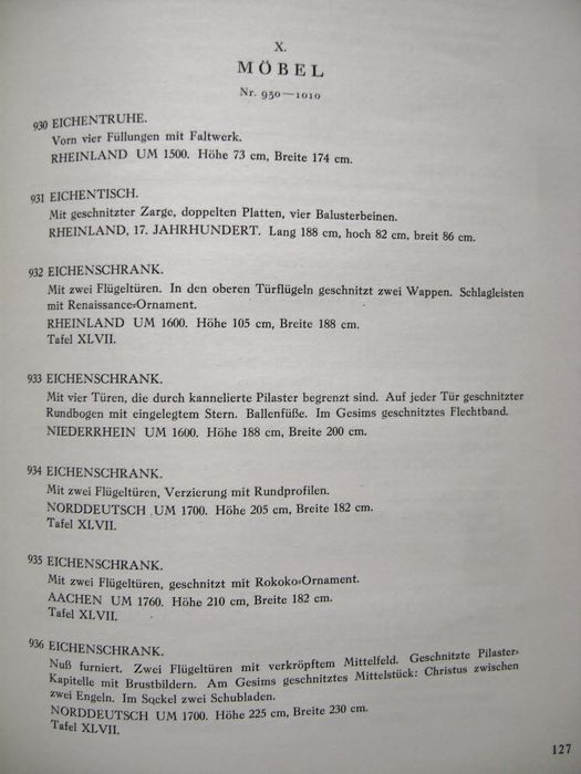 Auction Catalogue; Otto Von Falke (composer)   Sammlung Graf Adelmann /  Köln   1927
