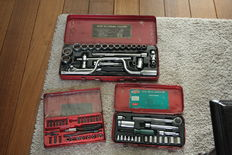 Old iron boxes with tools ca 1960
