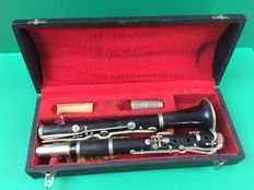 Old clarinet with case