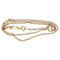 Yellow gold curb link necklace of 14 kt, length: 47 cm
